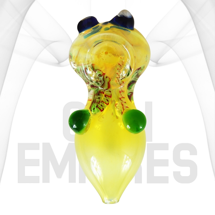 Glass Hand Pipe | Gold Fume | glass Marbles | 4