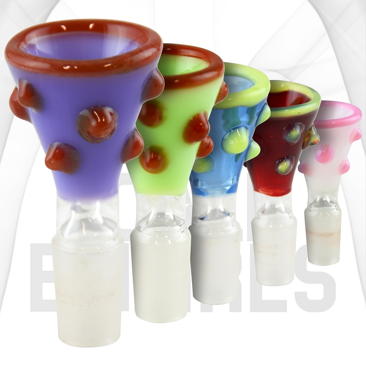 Color Bowl with Colored Glass Barblesl| Get 2 Bowls | 14mm