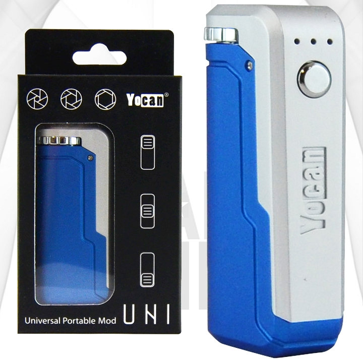 Yocan Uni Adjustable Cartridge Vaporizer | Blue + Silver