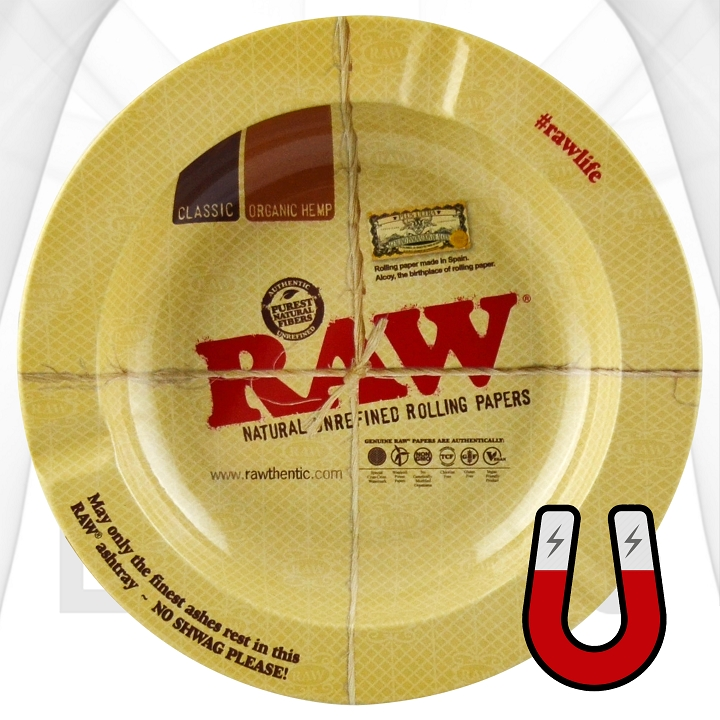 Raw Round Magnet Rolling Trays | 12