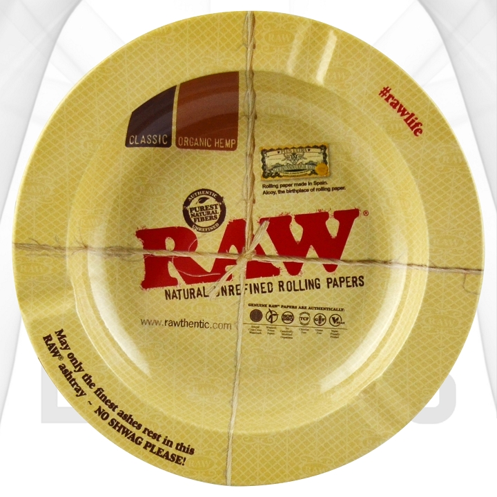 Raw Round Metal Rolling Trays | 12