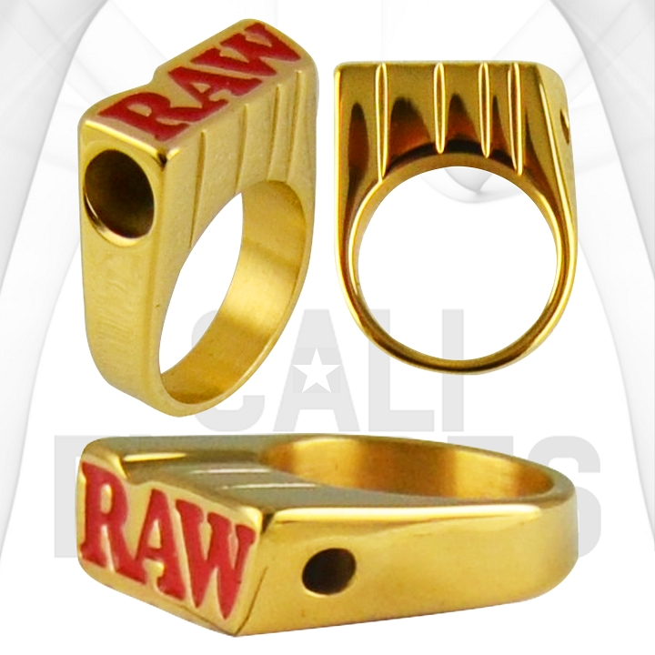 Raw Gold Smoke Ring | Joint Holder | Size 10