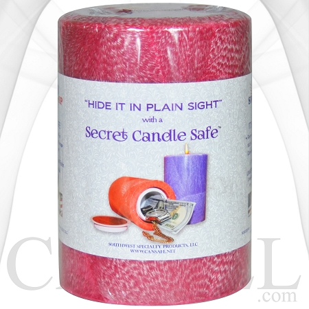 Secret Candle Stash Safe