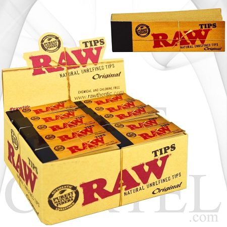 Raw Original Natural Unrefined Tips | 50 Packs Per Box | 50 Tips Each