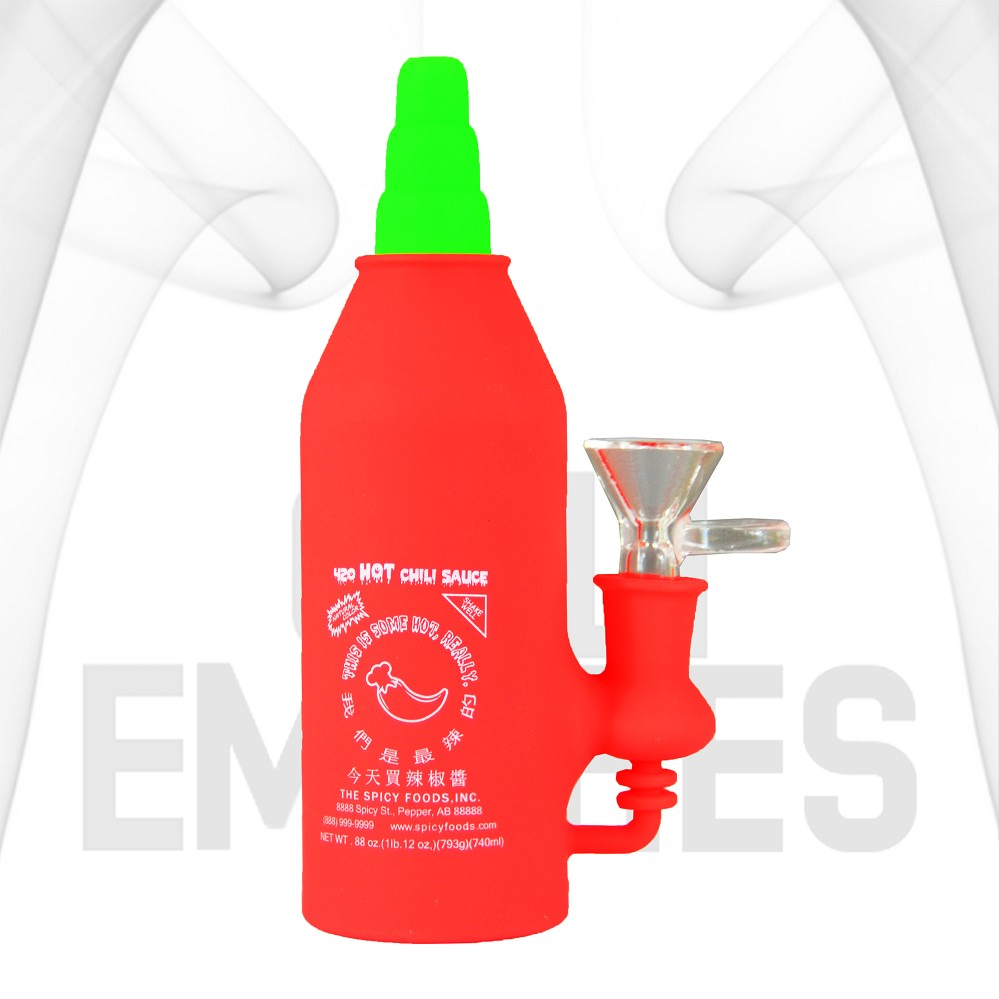 420 HOT Chili Sauce Silicone Water Pipe Bong