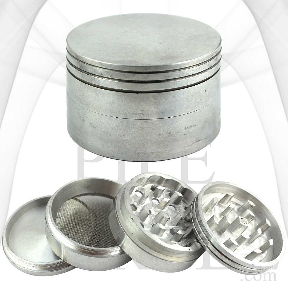 63 mm Aluminum Grinder | 3 Chamber | 4 Parts